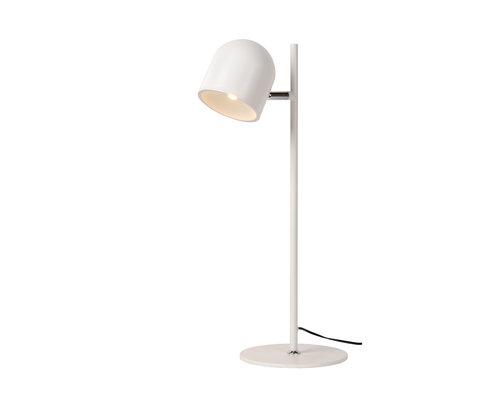 M & T  Bureaulamp wit - Ø 16 cm - LED Dimbaar - inclusief 1 buble 1 x 5W 3000K