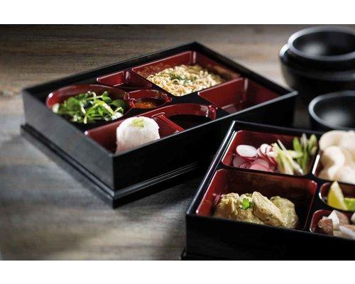 M & T  BENTO BOX with lid  ABS 27 x 21 x H 6 cm