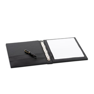 M & T  Guest directory black luxerious black PU leather
