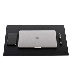 M & T  Bureelonderlegger 50 x 38 x 0,9 cm zwart PU  luxe leder