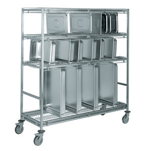 M & T  Trolley for transport and storage of gastronorm containers medium size