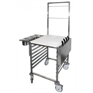 M & T  Chef werktafel wagen