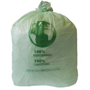 M & T  Bin liner 90 liter compostable ( roll 20 pieces )