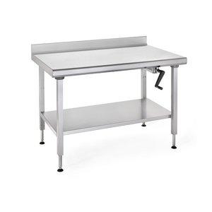 "TOURNUS  Working table "" Ergonomix ""  adjustable in height  with upstand"