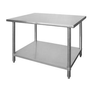 M & T  Werktafel roestvrijstaal  140x60xh85 cm