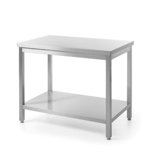 M & T  Working table stainless steel 140 x 60 x h 85 cm  heavy duty finish