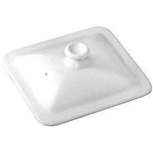 M & T  Deksel voor GN 1/6 wit porselein
