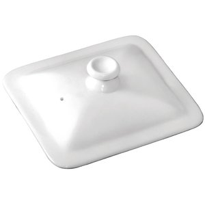 M & T  Lid for GN 1/6 white porcelain
