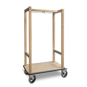 """M & T  Luggage trolley wood  design """"Azar """""""