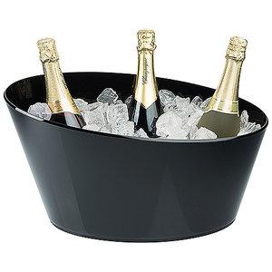 M & T  Wijn- & champagne koeler voor 4 flessen zwart acryl