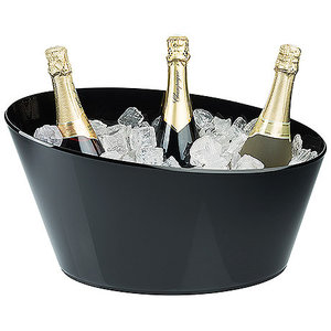 M & T  Wine - & champagne cooler for 4 bottles black acrylic