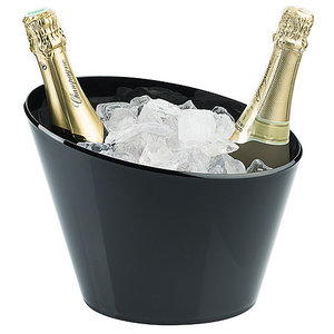 M & T  Wine - & champagne cooler for 2 bottles black acrylic