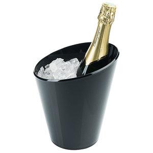 M & T  Seau à vin & champagne pour 1 bouteille acrylique noire