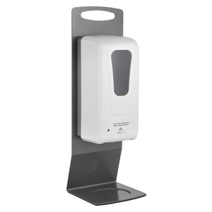M & T  Hand disinfection station with an automatic infra-red sensor counter model