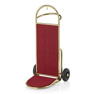 M & T  Bagagewagen - steekwagen goudkleurig roestvrijstaal