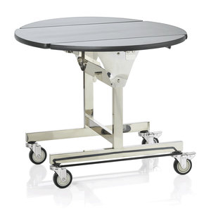 M & T  Room service table round 105 cm foldable
