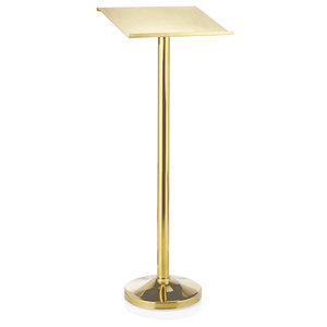 M & T  Display stand for menu or reservation book, stainless steel  gold color 44x34,5cm