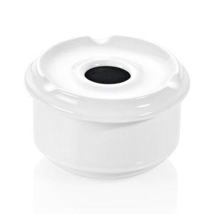 M & T  Windproof ashtray white porcelain 10 cm