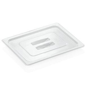 M & T  Deksel GN 1/2 transparant voor zwarte PC bakken