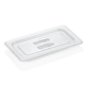 M & T  Deksel GN 1/4 transparant voor zwarte PC bakken