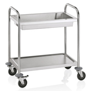M & T  Clearing trolley with 1 deep shelve