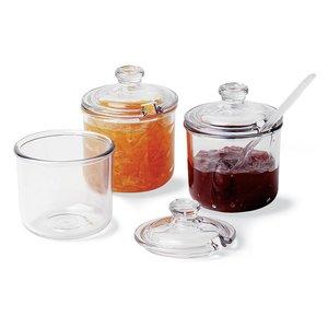 M & T  Jam & condiment jar polycarbonate  set of 2 jars