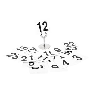 M & T  Tafelnummer set 1 - 25 dubbelzijdig