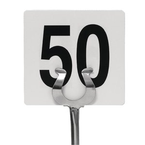 M & T  Plastic table numbers inserts 1-50