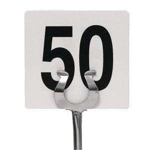 M & T  Tafelnummer set 1 - 50 dubbelzijdig