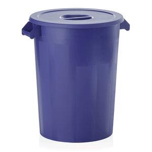 M & T  Storage bin with lid , blue PP , Content 100 liter
