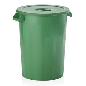 M & T  Opslagcontainer met deksel voor ingrediënten, PP  groen, inhoud : 100 liter