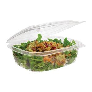 VEGWARE  Voedseldoos met charnierdeksel transparante composteerbare kunststof PLA