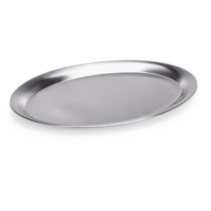M & T  Serving tray oval stainless steel 23 x 17 cm