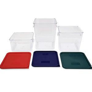 M & T  Opslagcontainers set van 3 stuks,  inclusief 3 deksels