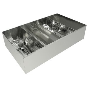 M & T  Flatware tray stainless steel 18/0 with 4 compartiments