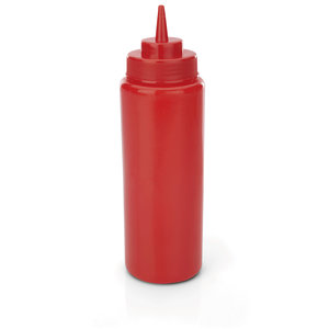 M & T  Squeeze bottle red PE set of 6 pieces, content 95 cl