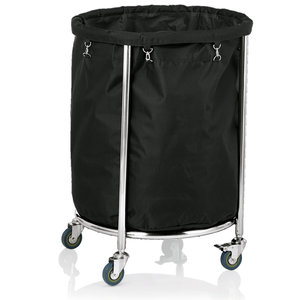 M & T  Linen trolley Ø 60 cm frame stainless steel 18/10 with polyester bag