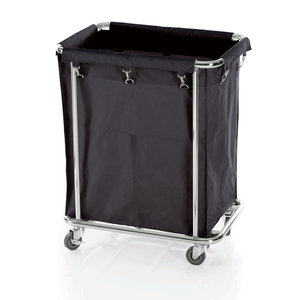 M & T  Linen trolley 65 x 45 x h 84 cm chrome plated steel frame with nylon bag