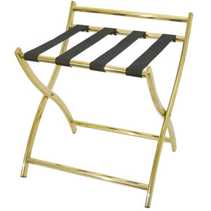 M & T  Luggage rack goldplated s/s with black nylon straps