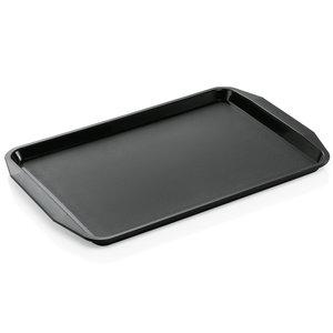 M & T  Dienblad met handgrepen 45 x 32 x 2 cm PP zwart