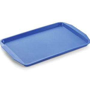 M & T  Dienblad met handgrepen 45 x 32 x 2 cm PP blauw