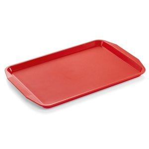 M & T  Dienblad met handgrepen 45 x 32 x 2 cm PP rood