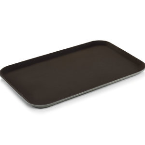 M & T  Non-slip tray rectangular dark brown  60 x 40 cm