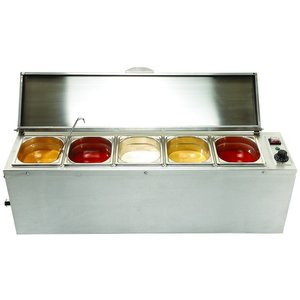 M & T  Bain marie with 5 x GN 1/6 for 5 sauces