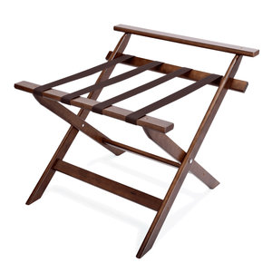 M&T Luggage rack wood with back