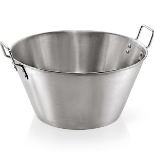 M & T  Vegetable - mixing bowl Ø 50 cm chrome nickel steel - conical - content 30 liter