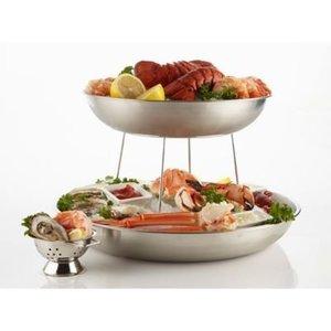 M&T Seafood tray 30 cm x 4 cm Aluminium