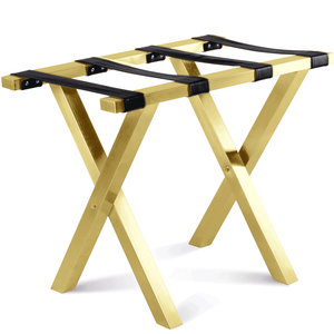 M & T  Luggage rack goldplated with black nylon straps