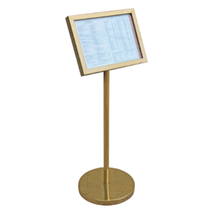 M & T  Menu holder - Info stand footed format DIN A3