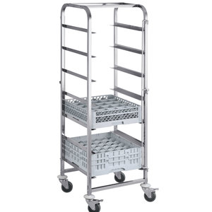 M & T  Trolley for dishwasher racks with 7 levels